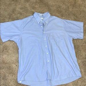 Van Heusen oxford 18 1/2 short sleeve button up